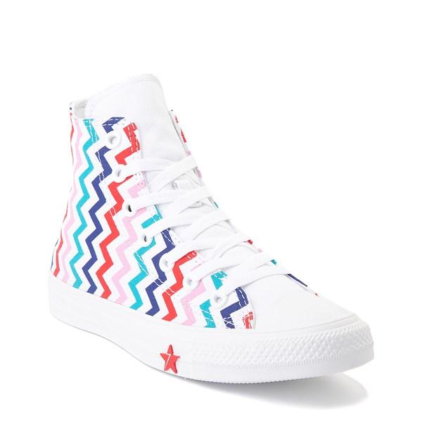 alternate image alternate view Womens Converse Chuck Taylor All Star Hi Voltage Sneaker - White / MultiALT1B
