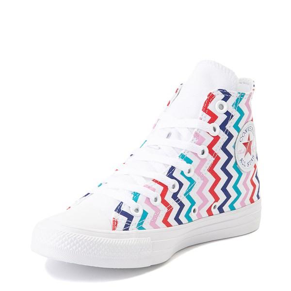 alternate image alternate view Womens Converse Chuck Taylor All Star Hi Voltage Sneaker - White / MultiALT3