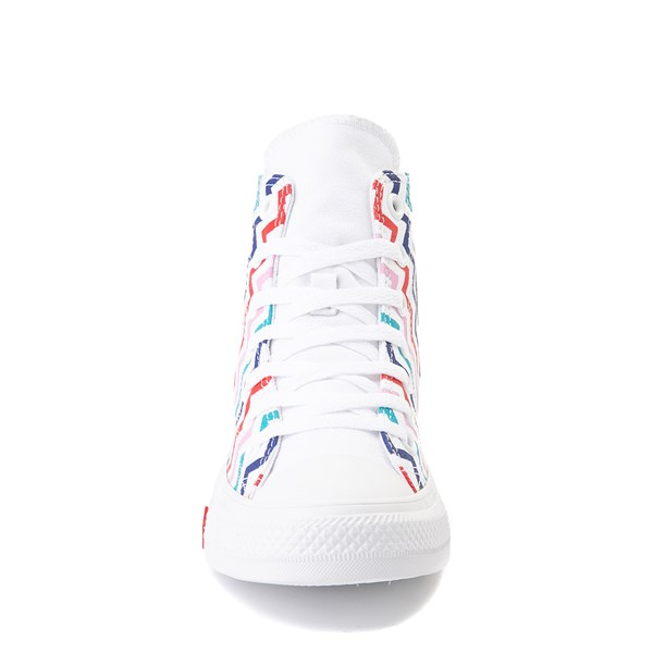 alternate image alternate view Womens Converse Chuck Taylor All Star Hi Voltage Sneaker - White / MultiALT4