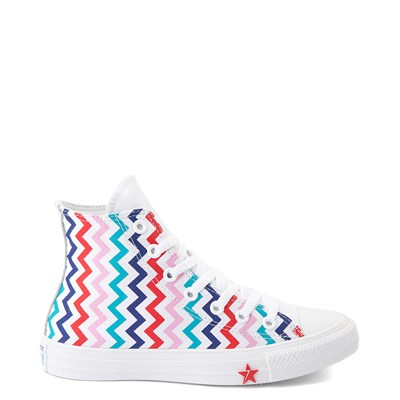 Main view of Womens Converse Chuck Taylor All Star Hi Voltage Sneaker - White / Multi