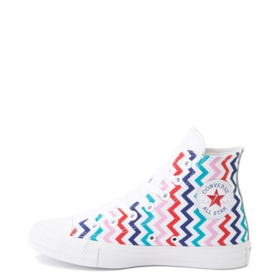 Alternate view of Womens Converse Chuck Taylor All Star Hi Voltage Sneaker - White / Multi