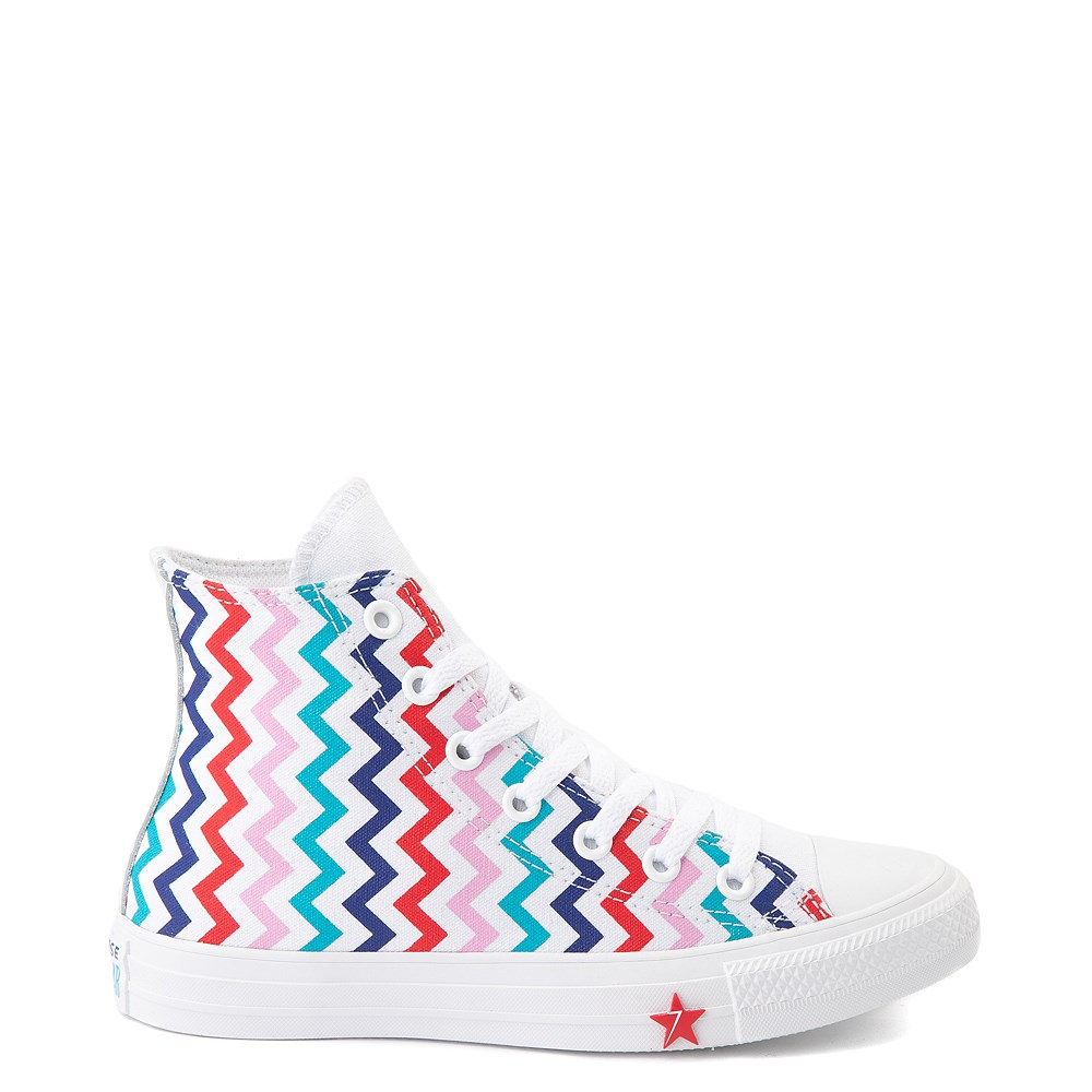 Womens Converse Chuck Taylor All Star Hi Voltage Sneaker - White / Multi