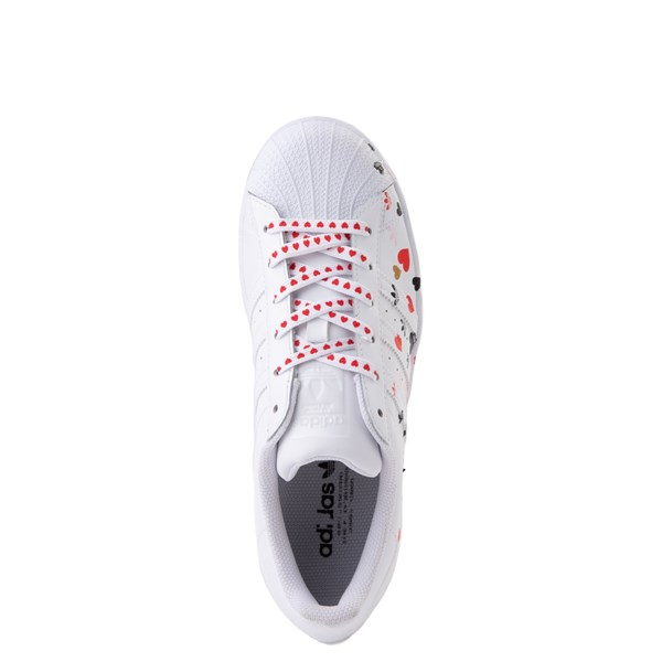 alternate image alternate view Womens adidas Superstar Athletic Shoe - White / MultiALT4B