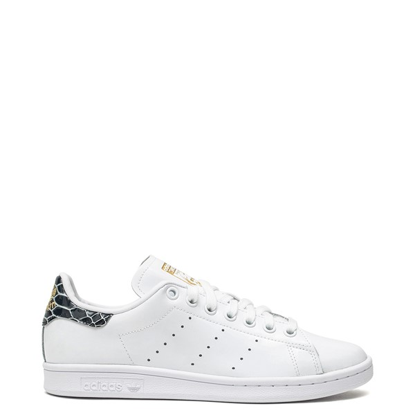 Womens adidas Stan Smith Athletic Shoe - White / Snakeskin
