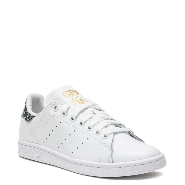 alternate image alternate view Womens adidas Stan Smith Athletic Shoe - White / SnakeskinALT1