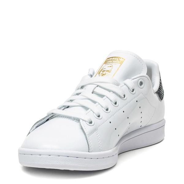 alternate image alternate view Womens adidas Stan Smith Athletic Shoe - White / SnakeskinALT3
