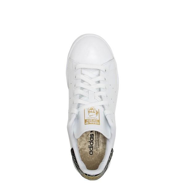 alternate image alternate view Womens adidas Stan Smith Athletic Shoe - White / SnakeskinALT4B