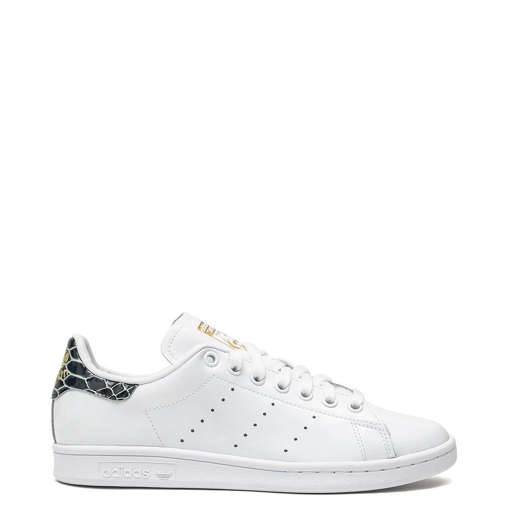 Womens adidas Stan Smith Athletic Shoe - White / Snakeskin