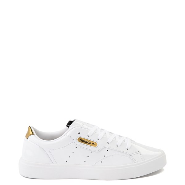Womens adidas Sleek Athletic Shoe - White / Gold