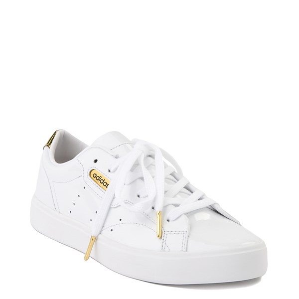 alternate image alternate view Womens adidas Sleek Athletic Shoe - White / GoldALT1B