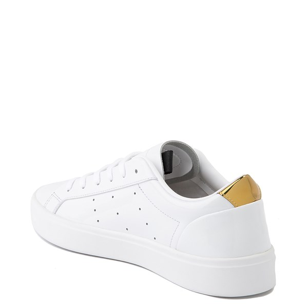 alternate image alternate view Womens adidas Sleek Athletic Shoe - White / GoldALT2