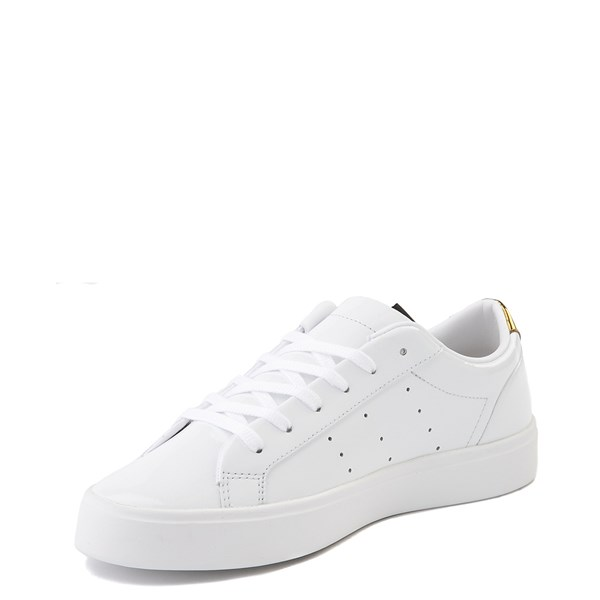 alternate image alternate view Womens adidas Sleek Athletic Shoe - White / GoldALT3