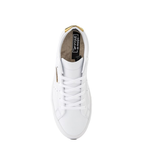 alternate image alternate view Womens adidas Sleek Athletic Shoe - White / GoldALT6