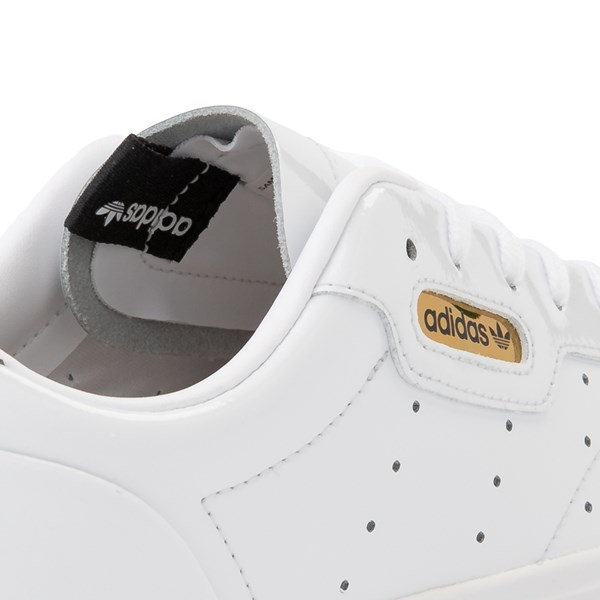 alternate image alternate view Womens adidas Sleek Athletic Shoe - White / GoldALT7