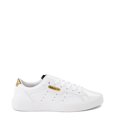 Main view of Womens adidas Sleek Athletic Shoe - White / Gold