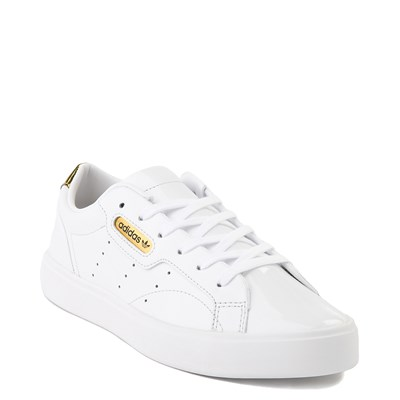 Alternate view of Womens adidas Sleek Athletic Shoe - White / Gold