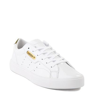 Alternate view of Womens adidas Sleek Athletic Shoe - White / Gold