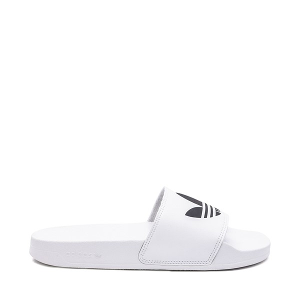 Main view of Mens adidas Adilette Lite Slide Sandal - White