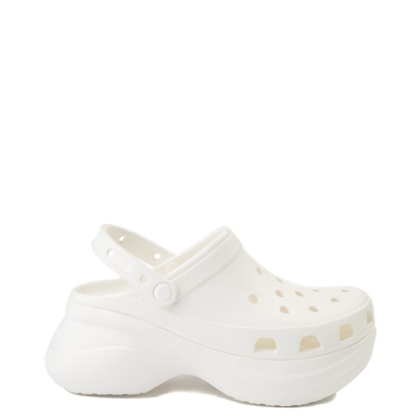 Main view of Womens Crocs Classic Bae Platform Clog - White
