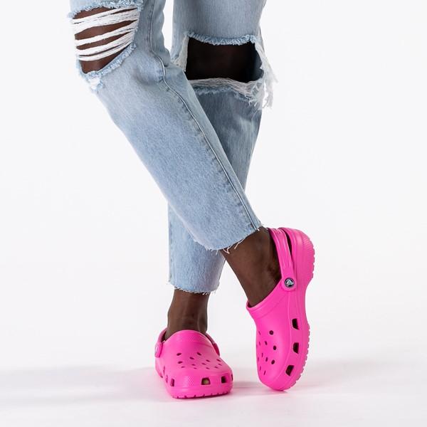 alternate image alternate view Crocs Classic Clog - Electric PinkB-LIFESTYLE1