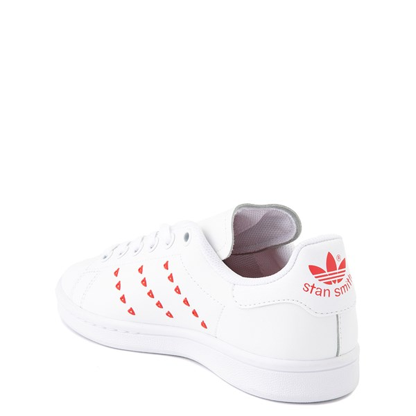 alternate image alternate view adidas Stan Smith Hearts Athletic Shoe - Big Kid - WhiteALT2