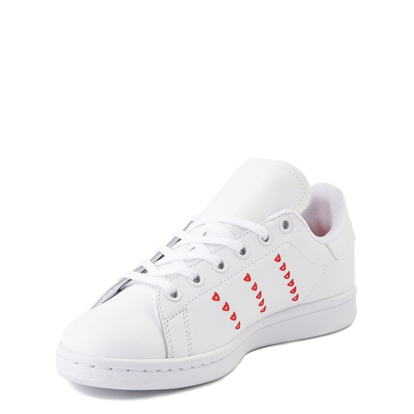 alternate image alternate view adidas Stan Smith Hearts Athletic Shoe - Big Kid - WhiteALT3