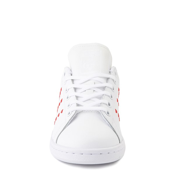 alternate image alternate view adidas Stan Smith Hearts Athletic Shoe - Big Kid - WhiteALT4