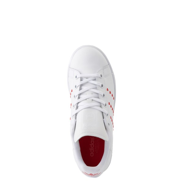 alternate image alternate view adidas Stan Smith Hearts Athletic Shoe - Big Kid - WhiteALT4B