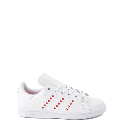 Main view of adidas Stan Smith Hearts Athletic Shoe - Big Kid - White