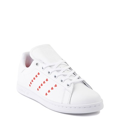 Alternate view of adidas Stan Smith Hearts Athletic Shoe - Big Kid - White