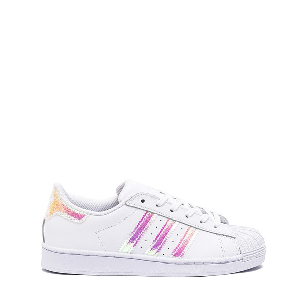 Main view of adidas Superstar Athletic Shoe - Little Kid - White / Iridescent