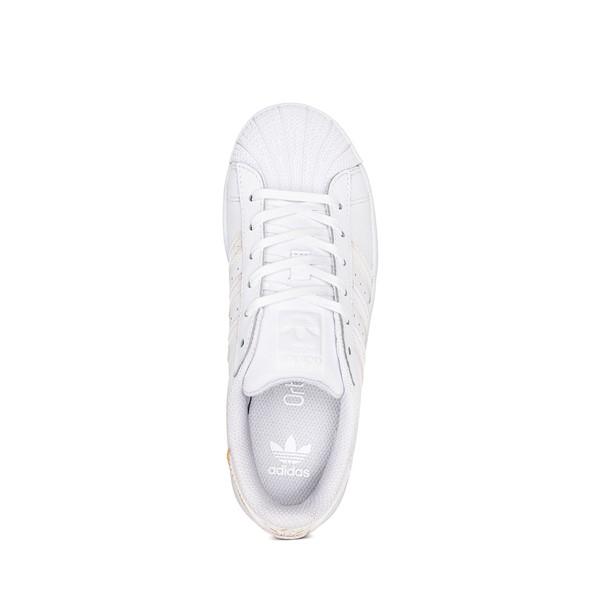 alternate image alternate view adidas Superstar Athletic Shoe - Little Kid - White / IridescentALT2