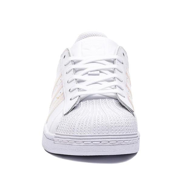 alternate image alternate view adidas Superstar Athletic Shoe - Little Kid - White / IridescentALT4
