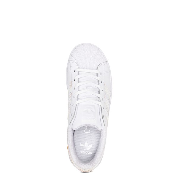 alternate image alternate view adidas Superstar Athletic Shoe - Little Kid - White / IridescentALT4B