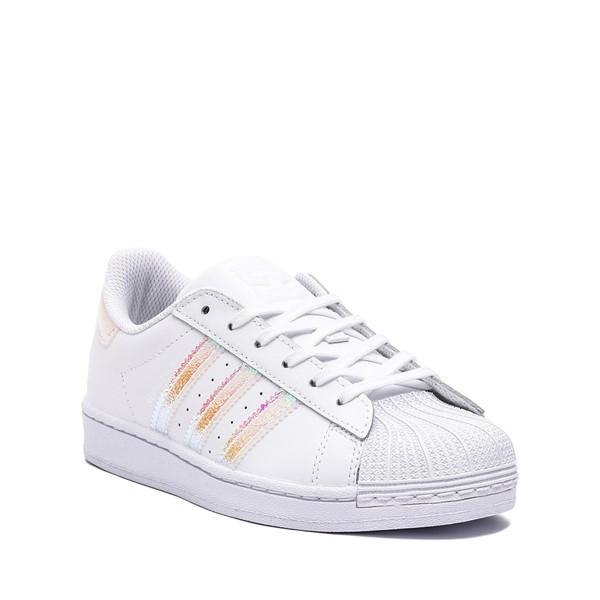 alternate image alternate view adidas Superstar Athletic Shoe - Little Kid - White / IridescentALT5