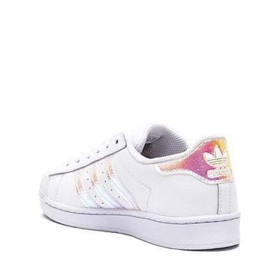 Alternate view of adidas Superstar Athletic Shoe - Little Kid - White / Iridescent