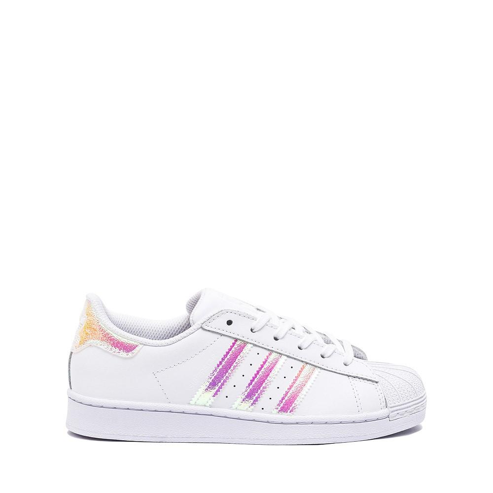 adidas Superstar Athletic Shoe - Little Kid - White / Iridescent