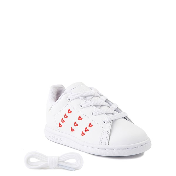 alternate image alternate view adidas Stan Smith Hearts Athletic Shoe - Baby / Toddler - WhiteALT1