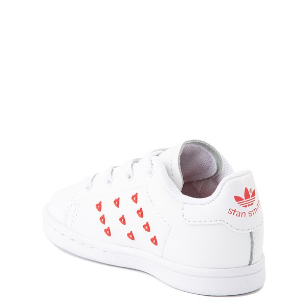 alternate image alternate view adidas Stan Smith Hearts Athletic Shoe - Baby / Toddler - WhiteALT2