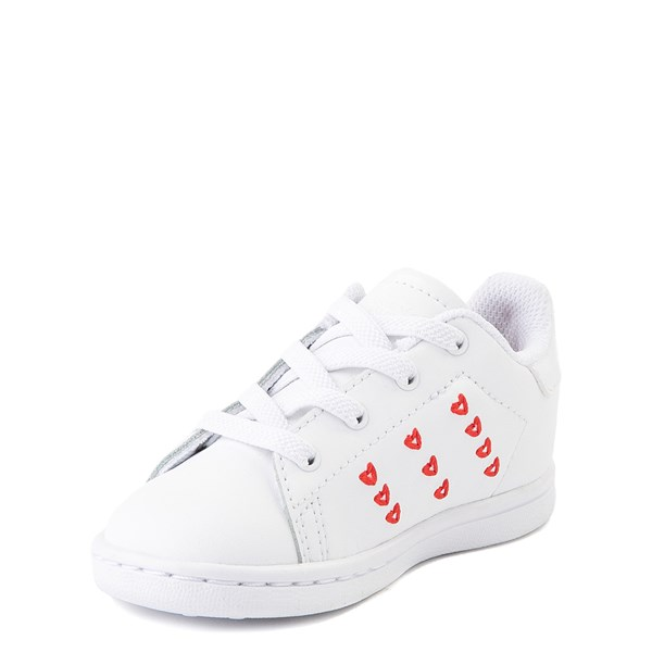 alternate image alternate view adidas Stan Smith Hearts Athletic Shoe - Baby / Toddler - WhiteALT3