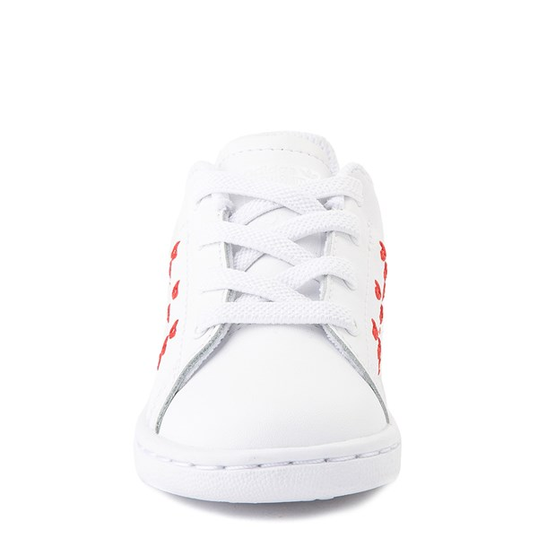 alternate image alternate view adidas Stan Smith Hearts Athletic Shoe - Baby / Toddler - WhiteALT4