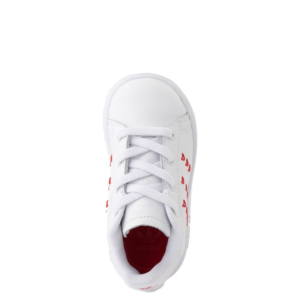 alternate image alternate view adidas Stan Smith Hearts Athletic Shoe - Baby / Toddler - WhiteALT4B