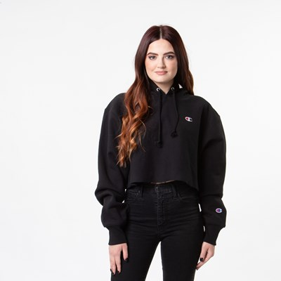 Alternate view of Womens Champion Reverse Weave Cropped Hoodie