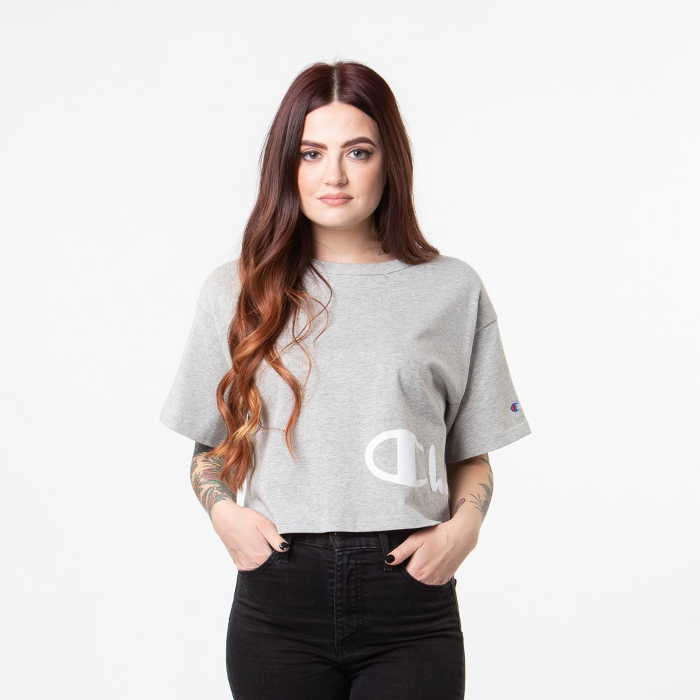 Womens Champion Heritage Wrap Cropped Tee