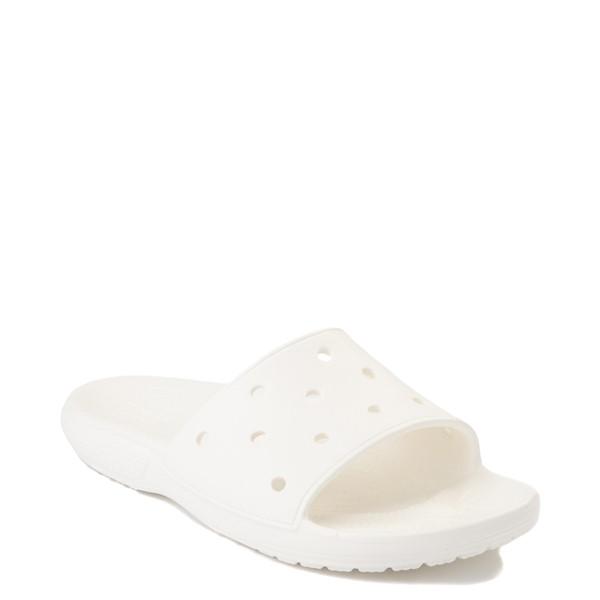 alternate image alternate view Crocs Classic Slide Sandal - WhiteALT5