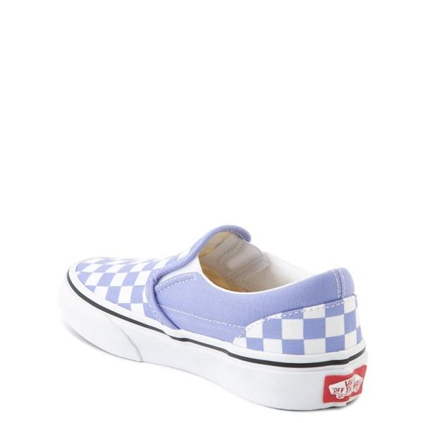 alternate image alternate view Vans Slip On Checkerboard Skate Shoe - Little Kid - Pale Iris / WhiteALT2