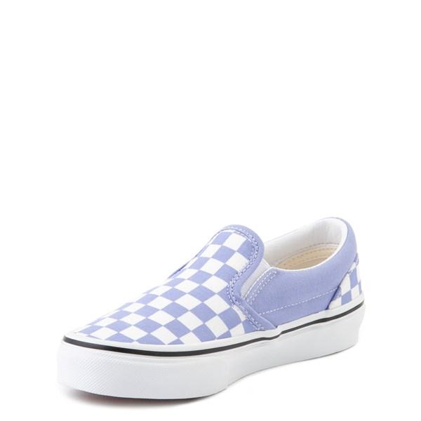 alternate image alternate view Vans Slip On Checkerboard Skate Shoe - Little Kid - Pale Iris / WhiteALT3