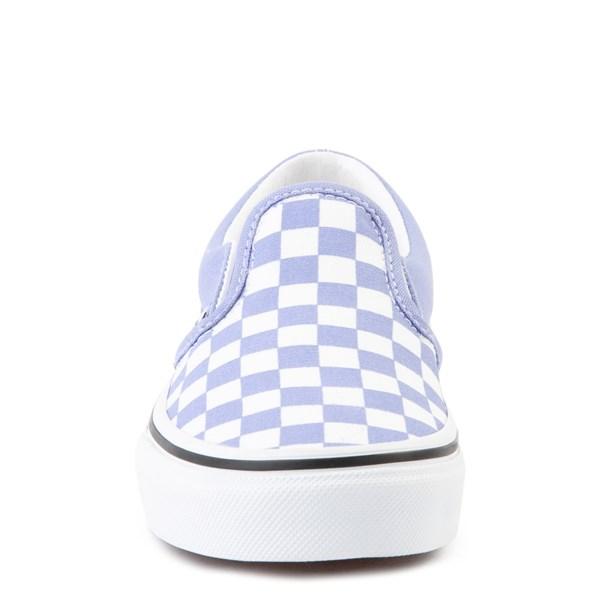 alternate image alternate view Vans Slip On Checkerboard Skate Shoe - Little Kid - Pale Iris / WhiteALT4
