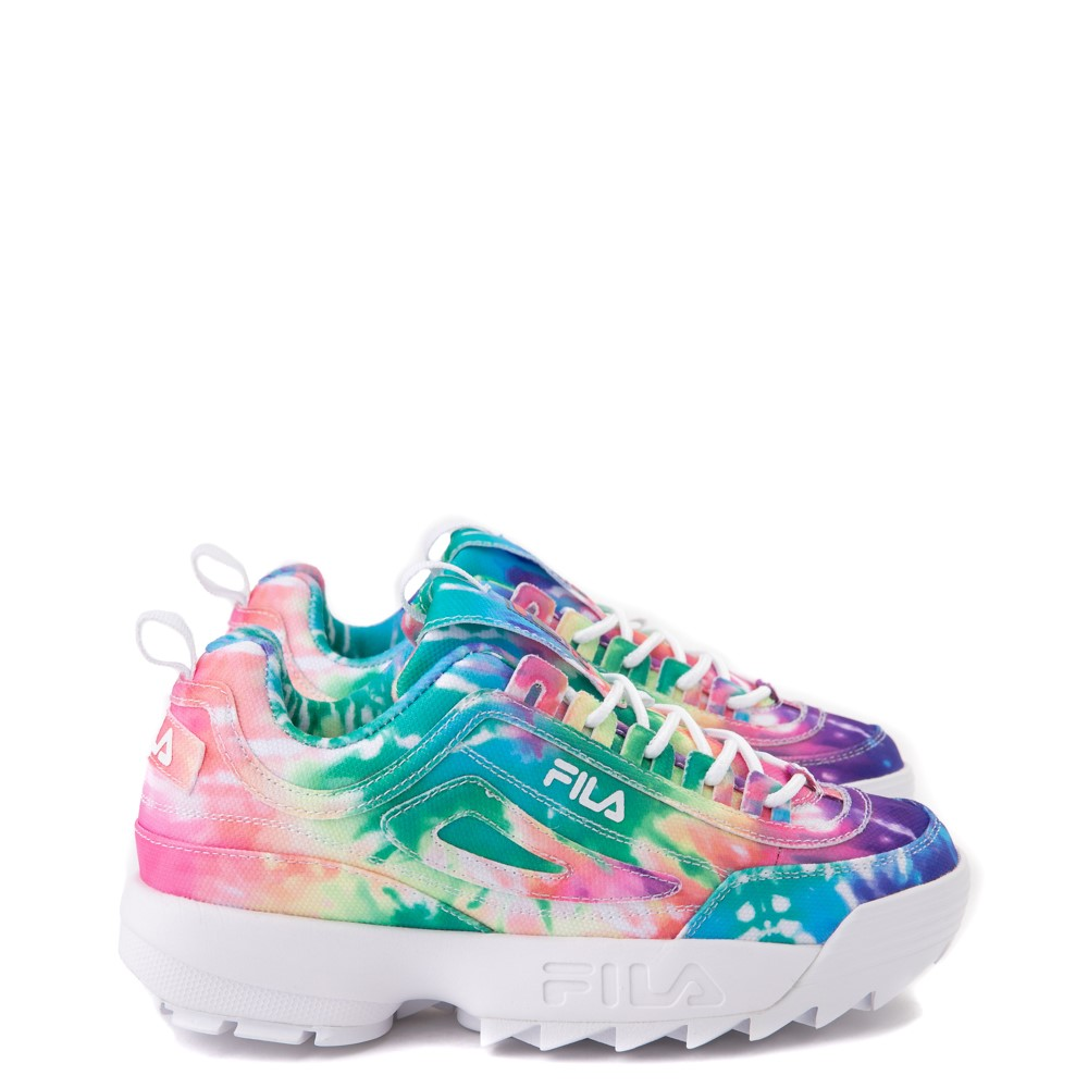 Womens Fila Disruptor 2 Tie Dye Athletic Shoe - Multi