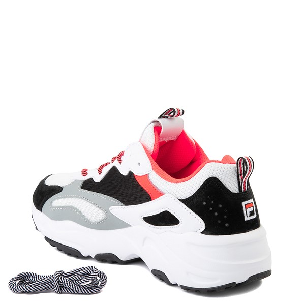 alternate image alternate view Womens Fila Ray Tracer Athletic Shoe - White / Black / CoralALT1